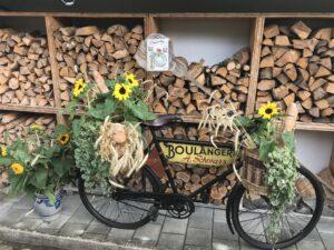 Concours de bicyclettes fleuries